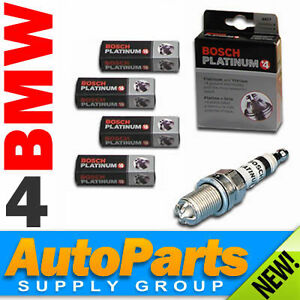 4-PC BMW & Mini Cooper Spark Plug Set OEM Bosch Platinum+4 318 M42/M43/M44