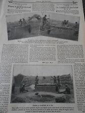 Industrie du Soudan Fours à Gaufres et à Sel  Old Print 1912
