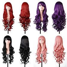 Gewellte Markenlose Echthaar-Perücken & -Haarteile in Rot Kunst