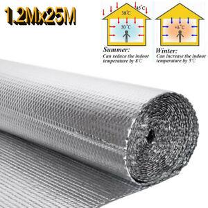 1.2x25M (82ft) Foil Insulation Double Aluminium Bubble Thermal Wrap Loft Wall