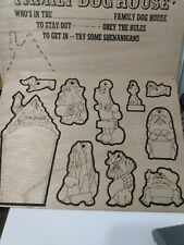 1978 Family Dog House Wooden Wonders #2342 - Tri-Chem Picture to Paint Vtg