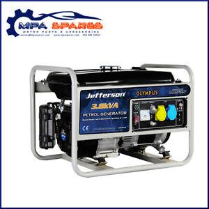 JEFFERSON 3.8kVA 10hp PETROL GENERATOR ELECTRIC START COPPER WOUND ALTERNATOR