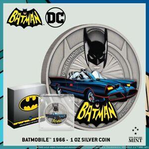 2021 Niue DC Comics Batman Batmobile 1966 1 oz .999 Silver Coin ~ 1st in Series