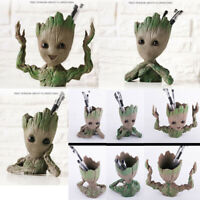 Baby Groot Guardians of The Galaxy 2 Figure Flowerpot Pen Pot Decor Gift Toy Set