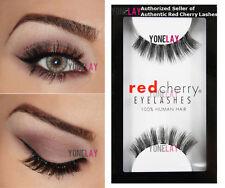 4 X Packs Red Cherry # 48 Daria 100 Human Hair False Eyelashes Genuine