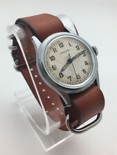 Vintage 1940-1945  LONGINES 10L WWII MILITARY Pilots WATCH STAINLESS STEEL RUNS