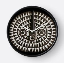 Bobo Bwa Sun Mask ~ ROUND WALL CLOCK / Compelling African Art Design