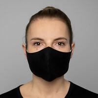 100% Natural Linen Face Mask Black Handmade Protective Reusable & Washable