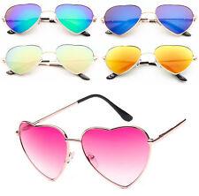 Ladies Heart Shape Sunglasses Hot Pink Gold Boho Festival Fancy Dress Party