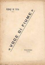 VOCE DI FIUME CESARE DE TITTA MAGGIO 1898