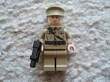 LEGO Indiana Jones Minifig - Rare Colonel Dovchenko with Gun - 7626 7628