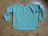 Grobstrick Pullover mintfarben von Gina Tricot Gr. L