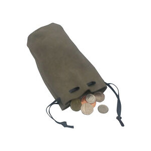Gray Leather Money Bag Draw String Pouch Dice Reenactment LARP 3 Shades