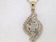 Einzelstück   Diamant Brillant Anhänger Gelbgold Gold 0,75ct Brillanten Baguette