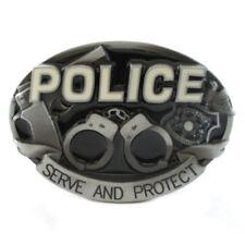 3D Police Boucle de ceinture COP Bleu vie affaire Law servir et protéger Fit Snap Belt
