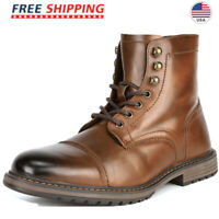 Bruno Marc Men's Combat Motorcycle Boots Oxford Dress Boot Zipper Shoes 6.5-15