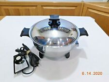 RENA WARE #17118 3 QT Electric Slow Cooker Liquid Core Stainless Waterless