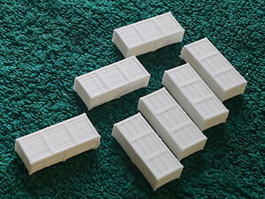 O scale 3D printed Long white cargo crates