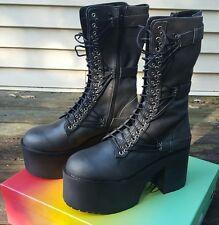 Dolls Kill Current Mood Straight Laced Military Boots sz 11