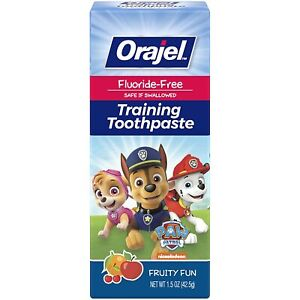 Orajel Toddler Training Toothpaste Tooty Fruity Flavor 1.50 oz Paw Patrol