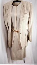 Gloria Sachs SZ 10 VTG three-piece suit- blazers skirt silk blouse career church