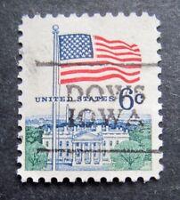 Sc # 1338 ~ 6 cent Flag and White House Issue, Precancel, DOWS IOWA