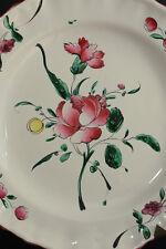 Belle assiette en faience de Marseille  XVIIIème DÉCOR fleurs chatironnées