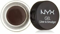 NYX Cosmetics Gel Eyeliner and Smudger,choose DARK BROWN Buy 2 or Get 15% Off