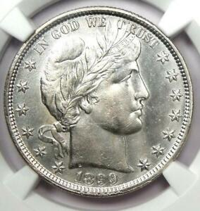 1899 Barber Half Dollar 50C Coin - Certified NGC AU Details - Rare Date!