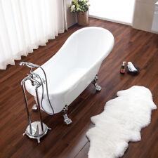 Vasca da bagno stile tradizionale 170x75x75 cm piedini cromati freestanding |3