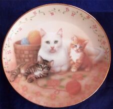 The Royal Family Plate By Susan Leigh Cats Kitten Shabby Cottage Chic
