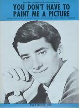 LEWIS-YOU DON'T HAVE TO PAINT ME A PICTURE-PIANO/VOCAL SHEET MUSIC-1966-RARE-NEW