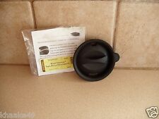 LONGABERGER REPLACEMENT LID IN BLACK FOR WOVEN TRADITIONS POTTERY TRAVEL MUG NIP