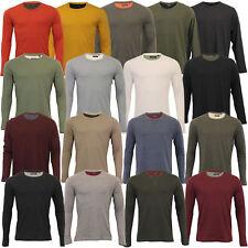 Mens Jersey Top Brave Soul Long Sleeved T Shirt 69PRAGUE Crew Neck King Sizes