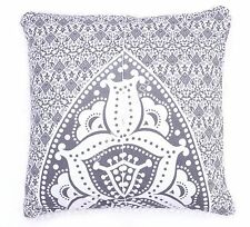 "Indian 100% Cotton Euro Sham Pillow Throw Cushion Cover 24x24"" Size Pillow Cases"