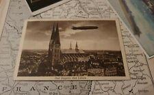 WW1 German GRAF ZEPPELIN Over Lubeck Germany 1931 Postcard WK1 Postkarte