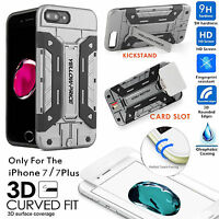 [Elite Armor] DropProof Hybrid Hard Case,3D REAL Glass Film iPhone 6/6S/7/7 Plus