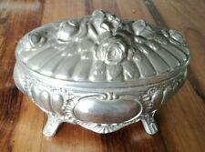 Altri Complementi D'arredo Pirogeno Antico In Metallo Argentato Art Nouveau Con Decorazione Fiori Ciclamino