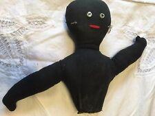 Vintage Antique Americana African American Primitive Cloth Doll Top Half 7 x 11