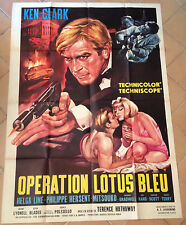 cinema-affiche originale- OPERATION LOTUS BLEU  -agent 077-vintage- KEN CLARK