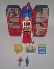 Fisher Price Sweet Streets School House Teacher Student Piano Desk Lunch Table