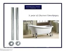 Chrome Standpipes Free Standing  Bath Leg Telescopic Shrouds For Bathroom Taps