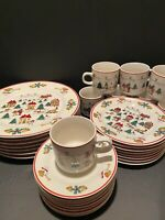 Jamestown  The Joy Of Christmas dinnerware set.