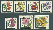 BURUNDI 1967 MNH 'Flowers' Provisional High Values