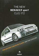 Renault Clio Sport 172 UK Market Specification Single Sheet September 1999