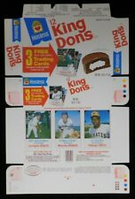 Hostess 1975 King Dons (Ding Dongs) Box Panel With Robin Yount Rookie Card Mint