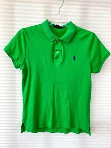 Ralph Lauren Sports Womens 100% Cotton Short Sleeve Green Polo Shirt Size L
