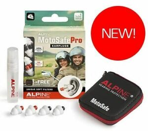 Alpine Motosafe Pro Motorcycle Earplugs Reusable Hearing Protection