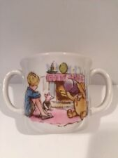 Royal Doulton Classic Pooh Double Handle Mug Winnie the Pooh Pigglet MINT