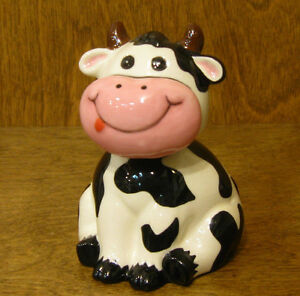 "ANIMAL ANTICS #4790-2 BULL BOBBLE HEAD 3.75"" NEW From Retail Store by RANGER"